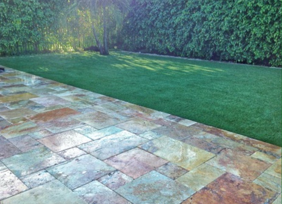 4 Benefits of Synthetic Turf. Synthetic turf on a property