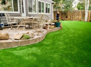 Artificial grass installed at a West Palm Beach home by Gator Turf
