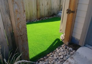 Artificial turf installed in a Miami backyard